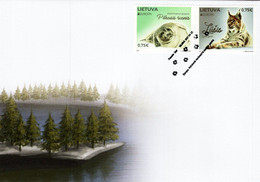 Lithuania - 2021 - Europa CEPT - Endangered National Wildlife - Lynx And Seal - FDC (first Day Cover) - Lituanie