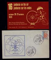 ANGOLA Lobito 16th Jamboree-on-the-air 1973 Boy Scouts World Bureau PORTUGAL Scoutisme Radio Telecommunications Gc5666 - Covers & Documents