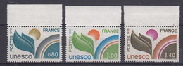 France 1976 Unesco 3v (+margin) ** Mnh (52002) - UNESCO