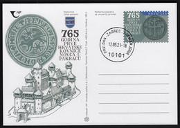 Croatia 2021 / 765 Years Of The First Croatian Mint In Pakrac / Postal Stationery - Croatia