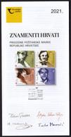 Croatia 2021 / Famous Croats, Feller, Maroevic, Mihanovic, Molnar-Talajic / Prospectus, Leaflet, Brochure - Croatia