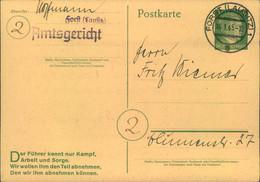 1945, Selten 5 Pfg. Ostkarte Mit PLZ-Kreis Gelaufen In FORST (LAUSITZ). Aufnahme In Die Stammrolle Zum Volkssturm - Covers