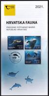 Croatia 2021 / Fauna, Sea Turtle, Dolphin, Giant Devil Rays / Prospectus Leaflet Brochure - Croatia