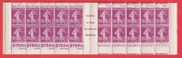CARNET SEMEUSE 190 -C1 POSTE BYRRH VARIETE DE DECOUPE - Definitives