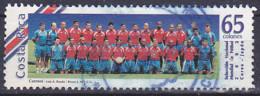 Timbre Du Costa Rica De 2002 Football  Coupe Du Monde Sélection Nationale Tp Obli - Costa Rica