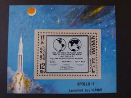 Emirati Arabi الإمارات العربية المتحدة MANAMA 1969FIRST MANNED LANDING ON THE MOON BLOCK CAT. MICHEL N.216 41A MNH $ - Manama