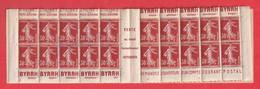 CARNET SEMEUSE 360 C1 PUB BYRH POSTE AERIENNE CCP - Definitives