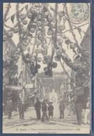 Reproduction Carte Postale Agen Boulevard Carnot Fêtes Présidentielles 1906 Armand Fallières était Président - Demonstrations