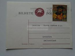 D179362    Portugal - Postcard  -VASCO De GAMA   Cancel MELO - Sent To  Grenchen  Switzerland - Unclassified