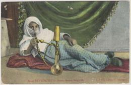 LIBAN - BEYROUTH - HAREM FUMANT NARGUILEH - Carte Colorisée - Lebanon