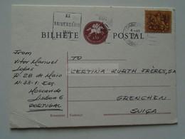 D179363    Portugal - Postcard  - Cancel Lisboa - NATO  XX. Anniversary  1949-1969 - Sent To  Grenchen  Switzerland - Unclassified