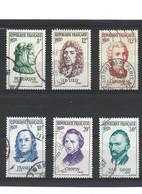 1898 La Série Complète Personnage étrangers Vie Française YT 1082-1083-1084-1085-1086-1087 Oblitérés - Usados