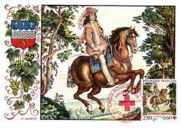 """"""" CROIX-ROUGE 1995 :  TAPISSERIE DE SAUMUR / CHEVAL """" Sur Cartes Maximum De 1995 N° YT 2946. Parf état CM - Red Cross"""