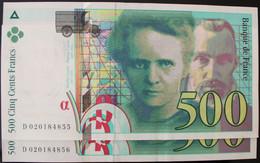 France - 500 Francs - 1994 - PICK 160a.1 / F76.1 - Pr. NEUF (2 Billets) - 500 F 1994-2000 ''Pierre Et Marie Curie''