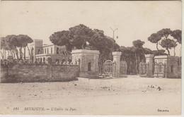 LIBAN - BEYROUTH - L'ENTREE DU PARC - Liban