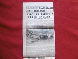 CAMARGUE GARDIAN TAUREAUX MANADE JEAN THIBAUD A SALLIERES - Historische Documenten