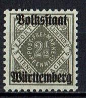 Mi. 134 ** - Wurtemberg