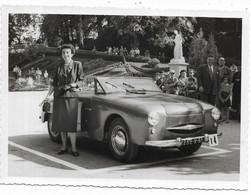 65-BAGNERES-DE-BIGORRE- Concours D'Elégance - Voiture PANHARD Dyna X.87 Junior Cabriolet Photo 11,5x16 (photo ALIX) - Automobili