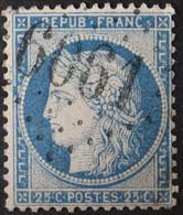 60A Obl BUREAU SUPPLEMENTAIRE GC 6061 Tiercé (47 Maine & Loire ) Ind 10 - 1849-1876: Klassik