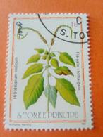 SAO TOME E PRINCIPE - Saint-Thomas Et Prince - Timbre 1983 : Plantes Médicinales - Hiliotropium Indicum - Sao Tome And Principe