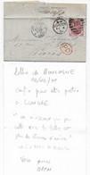 Guerre De 1870  Lettre De BOULOGNE S/ MER 02/02/71 Confiée Et Postée à LONDRES P/ PARIS Verso Manuscrit OPEN Censure - Oorlog 1870