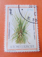 SAO TOME E PRINCIPE - Saint-Thomas Et Prince - Timbre 1983 : Plantes Médicinales - Cymbopogon Citratus - Sao Tome And Principe