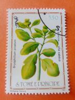 SAO TOME E PRINCIPE - Saint-Thomas Et Prince - Timbre 1983 : Plantes Médicinales - Bryophillum Pinatum - Sao Tome And Principe