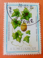SAO TOME E PRINCIPE - Saint-Thomas Et Prince - Timbre 1983 : Plantes Médicinales - Adenoplus Breviflorus - Sao Tome And Principe
