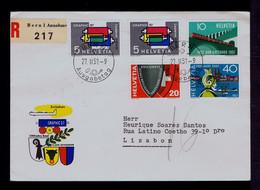 SUISSE Bern Town Graphic'57 Railway SAN GOTTARDO Trains Bridges Protection Civile BASEL2000 Pmk Mailed 1957 Gc5672 - Other