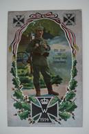 AK: Mit Gott Für König Und Vaterland / Zeithain 24.09.1916 Nach Zwickau / Truppenübungsplatz Infanterie-Regiment Nr. 104 - Weltkrieg 1914-18