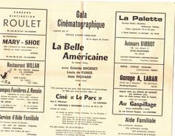 """Cinéma """"Le Parc"""" La Louvière  Gala Cinématographique. Invitation - Collezioni"""