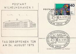 H 381) BRD 1975 SSt 2940 Wilhelmshaven 1, Wochenende An Der Jade, 10 Jahre Städte-Partnerschaft Mit Vichy, Baiser - Stamp's Day