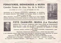 FOLLETO PUBLICITARIO DE FOTOGRAFO EN MUGIA, LA CORUÑA, ESPAÑA. AÑO 1972. BROCHURE PUBLICITAIRE PHOTOGRAPHE.- LILHU - Dépliants Touristiques