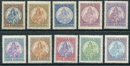 HUNGARY 1921-25 Patrona Hungariae - Madonna  Complete MNH / **.  Michel 322-23, 374-79, 401-02 - Nuovi