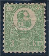 * 1871 Kőnyomat 3kr Eredeti Gumival, Falcos (240.000) / Mi 2 With Original Gum, Hinged. - Zonder Classificatie