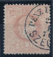 """O 1867 50kr Luxus Minőségű Bélyeg """"PÉNZ U(TALVÁNY) SZEG(ED)"""" (180.000) - Zonder Classificatie"""