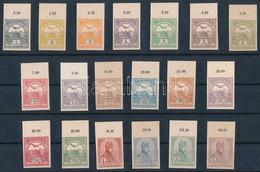 (*) 1900 Turul Sor A 2 Később Kiadott 6f Nélkül, 19 ívszéli érték Karton Papíron. / 19 Values Of The 1900 Turul Set, Imp - Zonder Classificatie