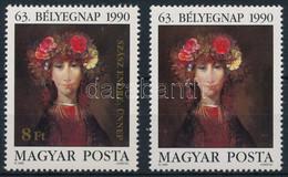 ** 1990 Bélyegnap (63.) - Festmények (XXII.) 8Ft Az Arany Színnyomat Nélkül + Támpéldány (80.000) - Zonder Classificatie