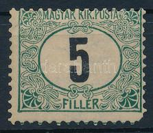"* 1905 Zöldportó ""A"" 5f Elfogazva, Apró Falcnyommal (70.000) (sarokfog Hiány / Missing Corner Perf.) - Zonder Classificatie"