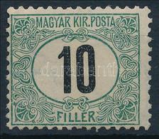 """** 1903 Zöldportó """"A"""" 10f (70.000) (enyhe Törés / Light Fold) - Zonder Classificatie"""