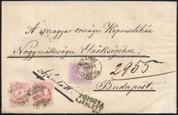 1877 Febr. 26. Második Súlyfokozatú Helyi Ajánlott Levél 2kr + 2 X 5kr Bérmentesítéssel Az Országház Elnökének Címezve,  - Zonder Classificatie