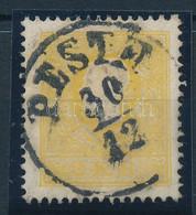 "O 1858 2kr I. Tipusú Sötétsárga Bélyeg ""PESTH"" (58.000+++, Ferchenbauer EUR 540.-) Certificate: Ferchenbauer - Zonder Classificatie"