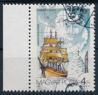 O 1987 Antarktiszkutatás 4Ftívszéli, Scott Feje Erősen Felfelé Tolódott / Mi 3911 Margin Piece, Strongly Shifted Dark Gr - Zonder Classificatie