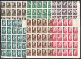 ** 1942 49 Db Királyok Sor összefüggő ívdarabban (58.800) - Zonder Classificatie
