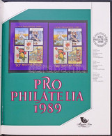 ** 1989 Pro Philatelia Blokk Bélyegkincstár Felirattal, 3 Mm Piros Sorszámmal (55.000) / Mi Block 207 With Text Bélyegki - Zonder Classificatie