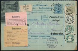 1896 Utánvételes Szállítólevél A Szelvényre Nyomott Reklám Képpel (szárnyas Tenyésztő Telep), Színes Számú 2 X 3kr + 20k - Zonder Classificatie