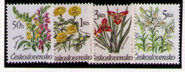 CHECOSLOVAQUIA 1990 - FLORES - YVERT Nº 2839/2842** - Nuevos