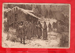 WORLD WAR ONE  1918 ITALY  LETTERS FROM HOME   7th DIVISION AT  CHRISTMAS GREETINGS FROM   ART J P BEADLE  1918 - Guerra 1914-18