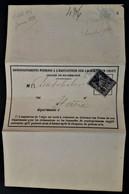 1082 FRANCE FRANCIA 1880 LE HAVRE PARIS Formulaire De Renseignements Sur Le Sort D'un Objet Chargé - 1876-1898 Sage (Tipo II)