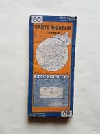 CARTE  MICHELIN  N°80   ENTOILEE   RODEZ  /  NIMES - Roadmaps
